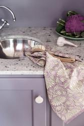 Savannah lilac rose-keittiöpyyhe