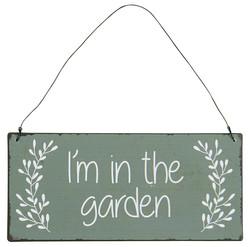 In the garden-metallinen  kyltti