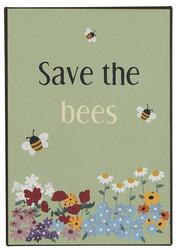 Save the bees-metallinen  kyltti