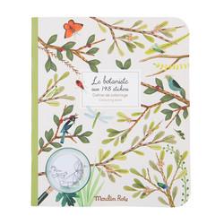 Botanist-värityskirja jossa tarroja