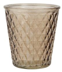 Tuikkukippo, brown glass