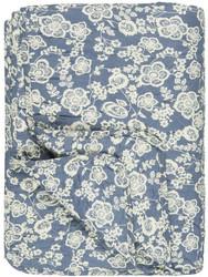 Puuvillatäkki blue with flowers