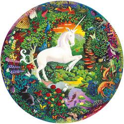 Unicorn garden-pyöreä palapeli, 500 palaa. Ikäsuositus 7+