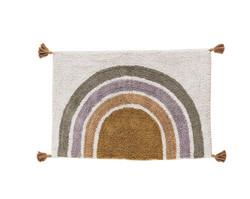 Pehmoinen rainbow matto tasseleilla, koko 60x90 cm