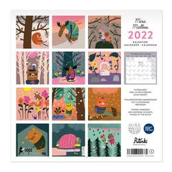 Mira Mallius seinäkalenteri 2022 30x30 cm