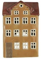Talolyhty, iso sinapinkeltainen ja ruskea katto