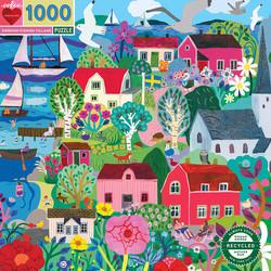 Swedish fish village-palapeli, 1000 palaa. Ikäsuositus 8+