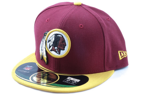New Era Cap NFL Washington Redskins On Field, Maroon, Koko 7 1/2