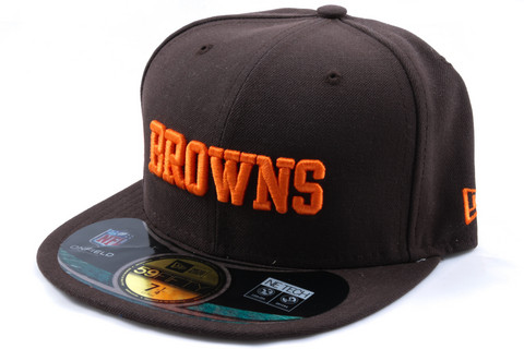 New Era 59Fifty NFL On Field Cleveland Browns Game Cap, Koko 7 1/4