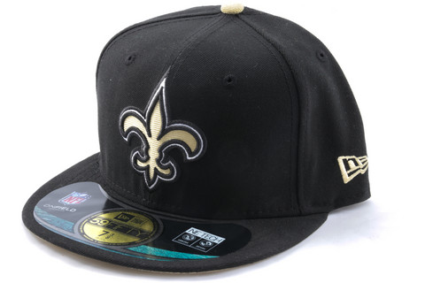 New Era Cap NFL New Orleans Saints On Field Team Black, Koko 7 3/8
