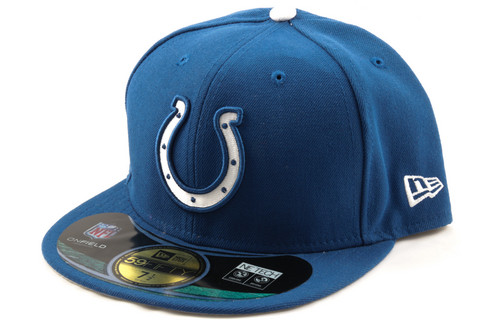 New Era 59Fifty NFL On Field Indianapolis Colts Game Cap, Koko 7 3/8