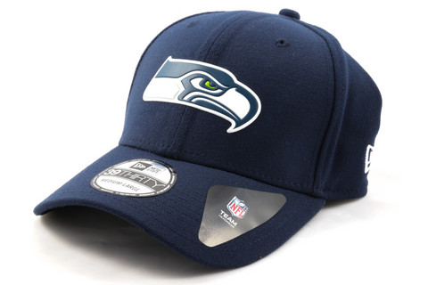 New Era 39Thirty Curved Cap WELD LOGO Seattle Seahawks, Koko S/M