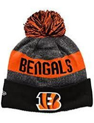 New Era Nfl Sideline Bobble Knit Cincinnati Bengals Black OSFA