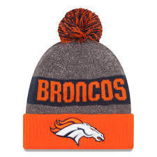 New Era Nfl Sideline Bobble Knit Denver Broncos Gold OSFA