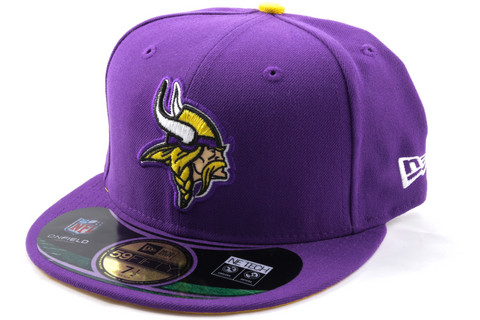 New Era 59Fifty NFL On Field Minnesota Vikings Game Cap, Koko 7 1/8