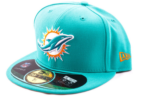 New Era 59Fifty NFL On Field Miami Dolphins Game Cap, Koko 7 1/4