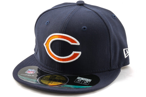 New Era 59Fifty NFL On Field Chicago Bears Game Cap, Koko 7 5/8