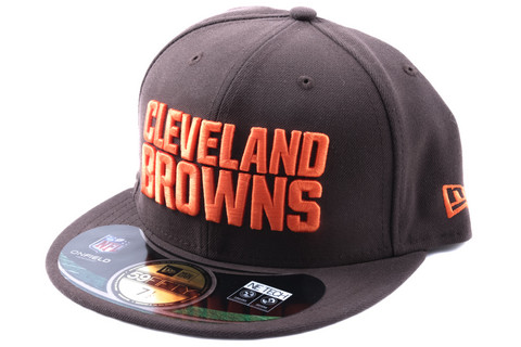 New Era 59Fifty NFL On Field Cleveland Browns 2015 Game Cap, Koko 7 1/8