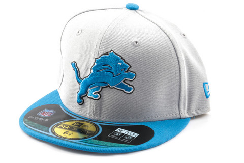 New Era 59Fifty NFL On Field Detroit Lions Game Cap, Koko 7 3/8