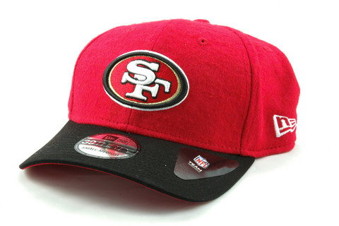 New Era 39Thirty MELTON Cap San Francisco 49ers red, Koko  S/M