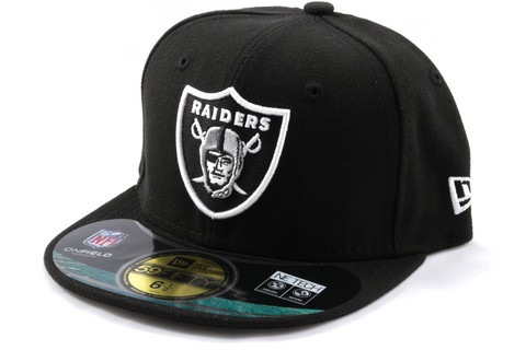 New Era 59Fifty NFL On Field Oakland Raiders Game Cap, Koko 7 1/8