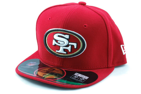 New Era 59Fifty NFL ON FIELD San Francisco 49ers Game Cap, Koko 7 3/8