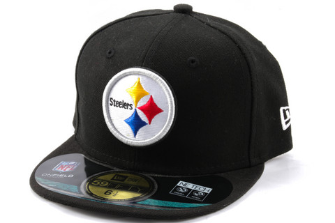 New Era 59Fifty KIDS Cap NFL ON FIELD Pittsburgh Steelers, Fitted