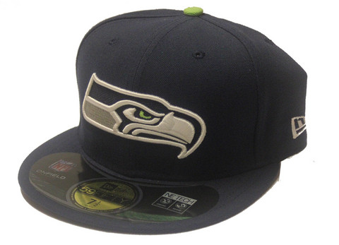 New Era 59Fifty NFL On Field Seattle Seahawks Game Cap, Koko 7 1/2