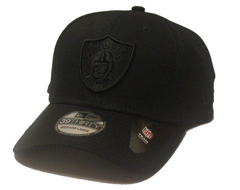 New Era 39Thirty Black on Black Oakland Raiders, Koko M/L
