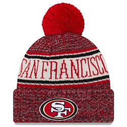 New Era NFL Sideline Bobble Knit 2018 San Fransisco 49ers