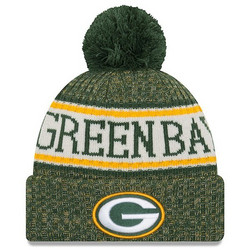 New Era NFL Sideline Bobble Knit 2018 Green Bay Packers