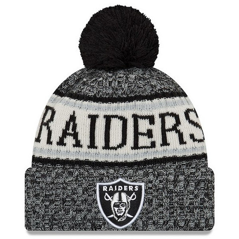 New Era NFL Sideline Bobble Knit 2018 Oakland Raiders