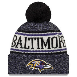 New Era NFL Sideline Bobble Knit 2018 Baltimore Ravens