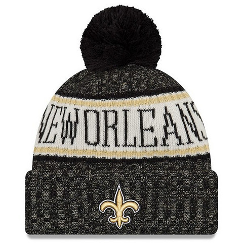 New Era NFL Sideline Bobble Knit 2018 New Orleans Saints