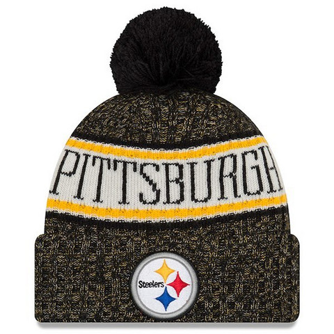 New Era NFL Sideline Bobble Knit 2018 Pittsburgh Steelers