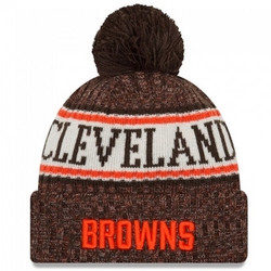 New Era NFL Sideline Bobble Knit 2018 Cleveland Browns