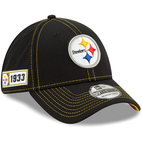 New Era 39Thirty 2019 Sideline Pittsburgh Steelers Flex Hat