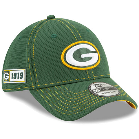 New Era 39Thirty 2019 Sideline Green Bay Packers Flex Hat