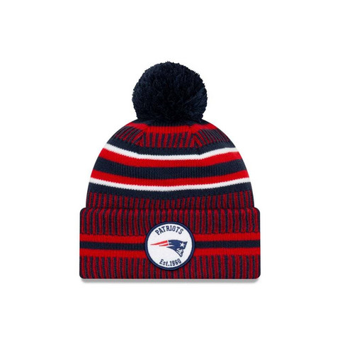 New Era NFL Sideline Bobble Knit 2019 New England Patriots
