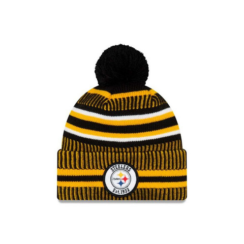 New Era NFL Sideline Bobble Knit 2019 Pittsburgh Steelers