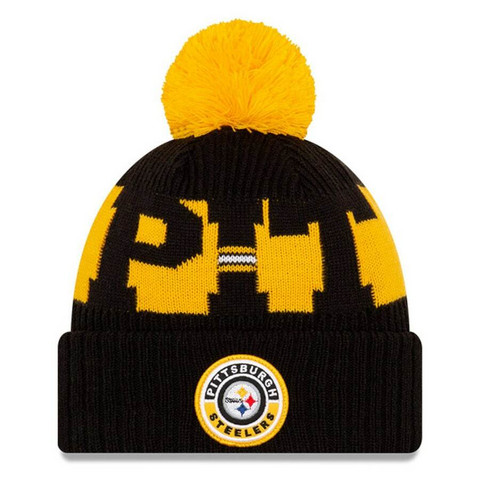New Era NFL Sideline Bobble Knit 2020 Pittsburgh Steelers
