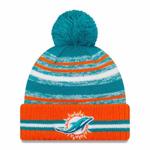 New Era NFL Sideline Sport Knit 2021 Miami Dolphins