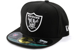 New Era 59Fifty NFL On Field Oakland Raiders Game Cap, Koko 7 3/8