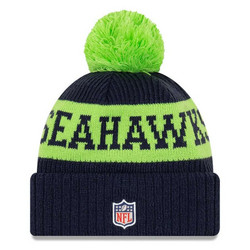 New Era NFL Sideline Bobble Knit 2020 Seattle Seahawks