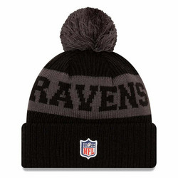 New Era NFL Sideline Bobble Knit 2020 Baltimore Ravens