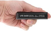 Fuj:tech Lite 2600 Black ‐powerbank, 2600 mAh