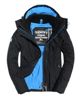 Superdry Pop Zip Arctic Windcheater - black/denby blue