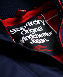 Superdry Pop Zip Arctic Windcheater - nautical navy/rebel red