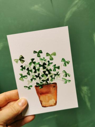 Card Lucky clover