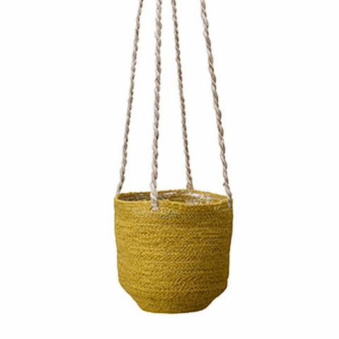 Hanging basket yellow 15cm